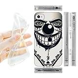 Head Case Designs Evil Clown Bandana Soft Gel Back Case Cover for Apple iPhone 4 4S
