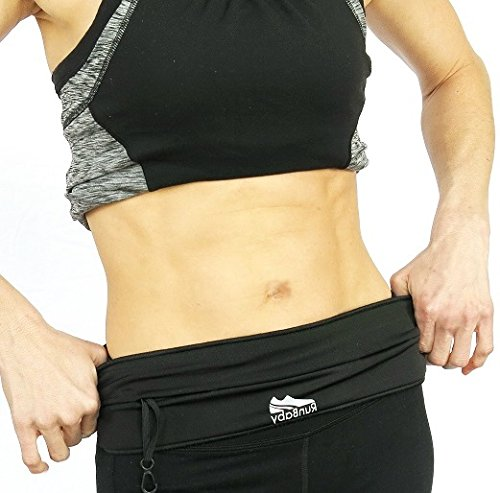 Running Belt - Best for Exercise/ Workout - Waterproof, Machine Washable, Waist Pack Belt - Expandable, Adjustable & Reflective - Great for Biking, Hiking, Outdoor Activity And Travel - 100% Guaranteed