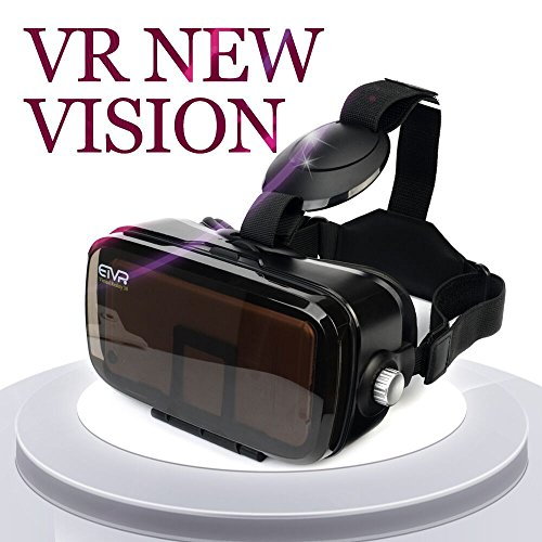 ETVR Newly Upgrated 3D Glasses VR Headset With Large Screen Immersive Virtual Reality Experience Fit for iPhone 7/6/6s Plus, Samsung Galaxy S5/6/7 Edge Etc (4.5-6.2 Inches)