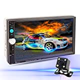 LSLYA (TM) 7inch HD bluetooth MP5 player TFT touch screen FM Radio back car video USB / TF Aux Input Color screen Car Stereo MP5 Player with remote control Rear View camera included