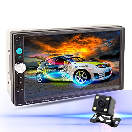 LSLYA (TM) 7inch HD bluetooth MP5 player TFT touch screen FM Radio back car video USB / TF Aux Input Color screen Car Stereo MP5 Player with remote control Rear View camera included (Car Stereo Touch Screen compare prices)