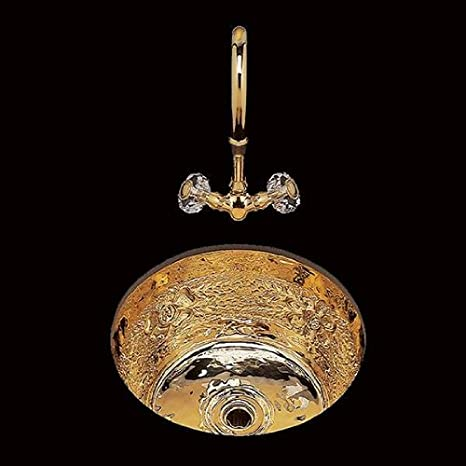 Bates & Bates CS 475 B0475G.CP Copper Dual Mount Bar Sink Garland Pattern 17 1/4 DIA. x 7 1/4