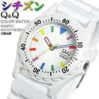 [シチズン]CITIZEN Q&Q 腕時計 メンズ レディース カラーウォッチ ウレタンベルト VP02-908  [国内正規品]