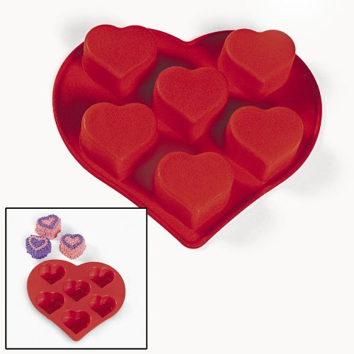 Silicone Heart-Shaped Cupcake Mold (1 pc)