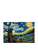 ZARTE DAL MONDO Pintura al Óleo sobre Lienzo Van Gogh Notte Stellata