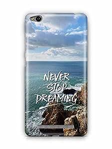 YuBingo Never Stop Dreaming Designer Mobile Case Back Cover for Xiaomi Redmi 3S