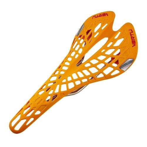 Vktech Super Bequem Atmungsaktiv MTB Fahrradsattel Tourensattel in Multifarben für Damen und Herren (Orange)