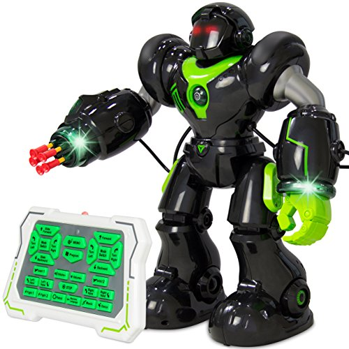 Best Choice Products Intelligent Remote Control RC Robot Talking Walking Shooting Light & Music Action Toys (Walking Shooting Robot compare prices)