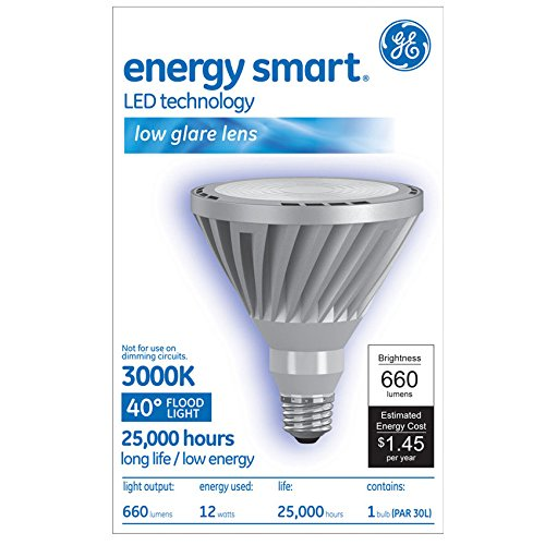 Ge 12w 120v PAR30L Silver 40 deg LED Light Bulb