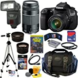 Canon EOS 60D 18 MP CMOS Digital SLR Camera with EF-S 18-55mm f/3.5-5.6 IS Lens and EF 75-300mm f/4-5.6 III Telephoto Zoom Lens with 16GB Deluxe Accessory Kit