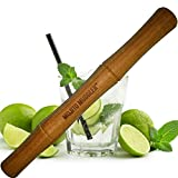 Mojito Muddler - 11 Inch Bamboo! Best Cocktail Drink Bar Tool; Wont Shred or Taint Like Cheap Wood, Steel or Plastic Muddlers.