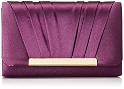 Jessica McClintock Harper Clutch Clutch, Purple, One Size