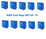 LARGE VOLUME ~ IKEA Tote Bags (SET OF 10)