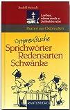 echange, troc Reinhold Ostler - Ostpreußische Sprichwörter, Redensarten, Schwänke.