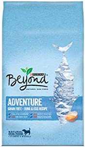 Purina Beyond Adventure Grain Free Tuna and Egg Recipe Natural Dog Food, 1/23lb bag