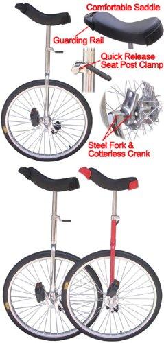 24 inch Wheel Unicycle Chrome