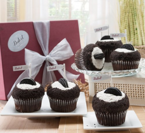 Cupcakes Gift Baskets Dulcet Cookies And Cream-6 Count.
