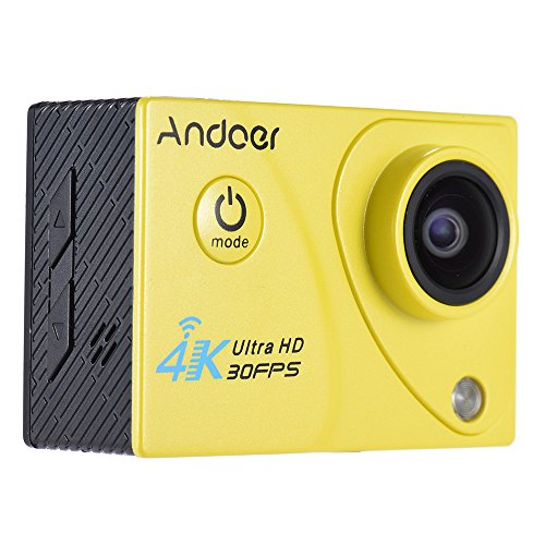 Andoer 4K 30FPS 1080P 60FPS Pieno HD DV 2.0in LTPS Wifi LCD Schermo Impermeabile 170 ° Grandangolare Outdoor Action Sport Camera Videocamera Digitale Cam Video Car DVR