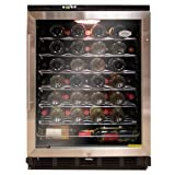 Vinotemp VT-WC58GNV-SB 58-Bottle Multi-Zone Wine Cooler with Digital Display