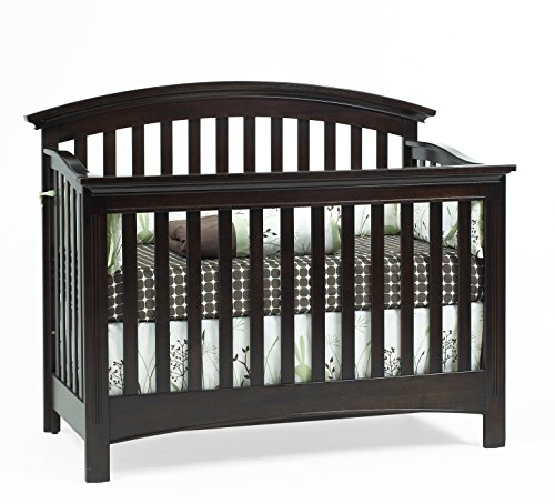 Baby Cache Bliss Essential Curved Top Crib, Espresso
