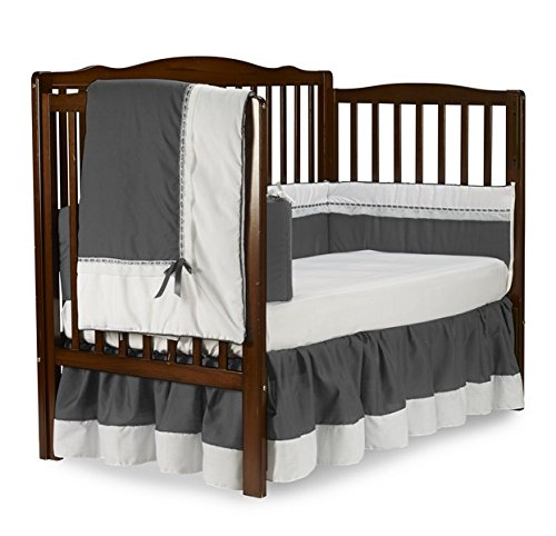 Baby Doll Royal Crib Bedding Set, Grey