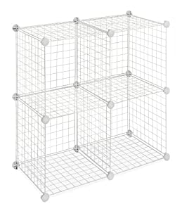 Whitmor 6071-1723 Four Storage Cubes, White