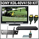 Sony Bravia V-Series KDL-40V4150 40-inch 1080P LCD HDTV + Sony DVD Player w/ Wall Mount Accessory Ki