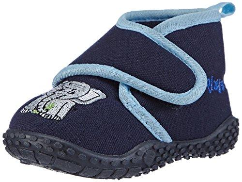 Playshoes 201753, Pantofole unisex bambino, Blu (Blau (original 900)), 22/23