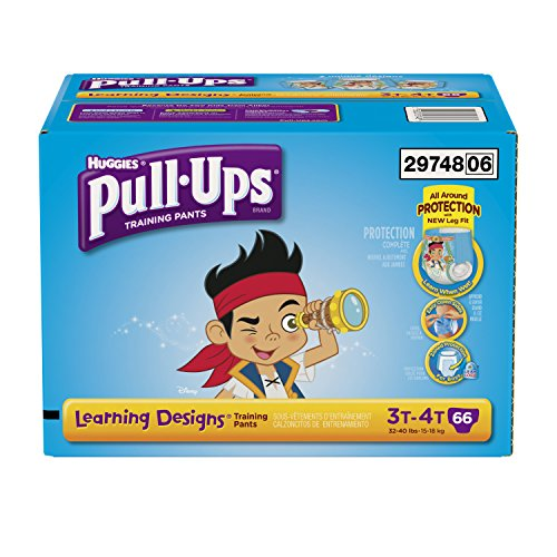 Pull-Ups Training Pants with Learning Designs for Boys, 3T-4T, 66 Count (Packaging May Vary) - 1