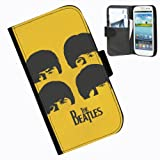 Hairyworm-The Beatles Samsung Galaxy S3 Mini leather side flip wallet case case for Samsung Galaxy S3 Mini phone