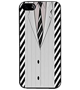 PrintDhaba Format Suit D-2672 Back Case Cover for APPLE IPHONE 5 (Multi-Coloured)