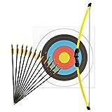 Kinderbogenset Komplettset Man Kung Recurvebogen Hawk® Gelb 112 cm