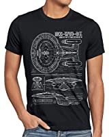 style3 NCC-1701-D Blaupause T-Shirt Herren trek trekkie star