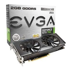 EVGA 02G-P4-2765-KR NVIDIA GTX 760 Grafikkarte (PCI-e, 2GB GDDR5 Speicher, 2x DVI, HDMI, DisplayPort, 1 GPU)