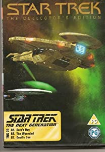STAR TREK - THE COLLECTOR'S EDITION - TNG 29 - DATA'S DAY, THE WOUNDED, DEVIL'S DUE - NEW & FACTORY SEALED - VERY HARD TO COME BY SEALED - RARE