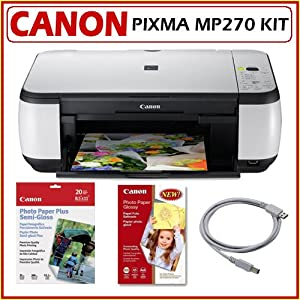 cnmmp270 canon pixma mp270 all in one inkjet printer with copy print scan. Black Bedroom Furniture Sets. Home Design Ideas