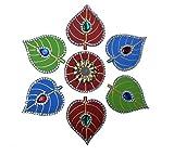 Diwali Decorations Wooden Handmade Rangoli-1