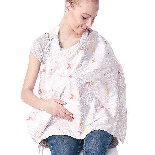 Bebamour Breast Feeding Nursing Cover,White