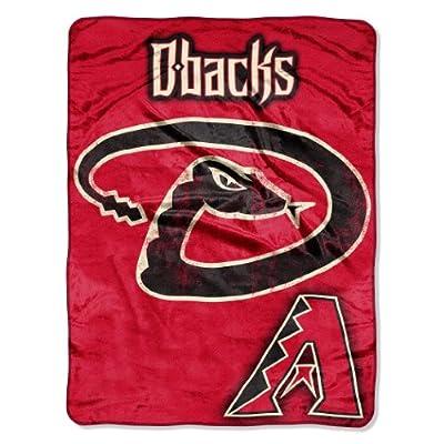 MLB Arizona Diamondbacks Micro Raschel Plush Throw Blanket, Trip Play Design
