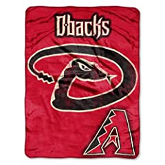 MLB Arizona Diamondbacks Micro Raschel Plush Throw Blanket, Trip Play Design by Northwest