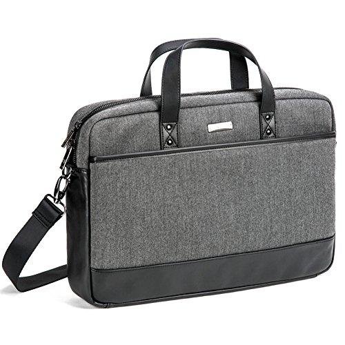 """17.3"""" Custodia Briefcase Laptop, Evecase Professionale Universale Valigetta Borsa Porta Computer con Tracolla per PC, Computer Portatile, Chromebook fino alle 17.3 pollici - Grigio/Nero"""