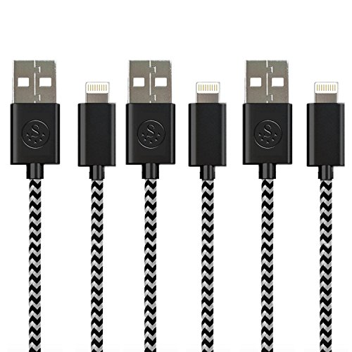 Click to buy THE #1 Rated Nylon Braided SideTech (TM) 6 Feet 8 pin iPhone 5 / iPhone 6 Cable. High Quality and Durable (Black Nylon x 3, SHIPPED IN SAME BUSINESS DAY. Compatible with new iOS) - From only $107.67
