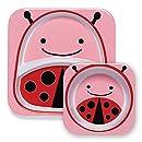 Skip Hop Zoo Melamine Plate and Bowl Set, Ladybug