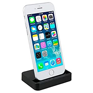 Bluebill Basic iPhone Charger Docking Station Cradle Charging Sync Dock for Apple iPhone 6, 6Plus,5,5S,5C (Black)