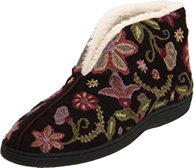 ACORN Women's Talara Bootie Slipper,Chocolate/Multi,Small/5-6 M US