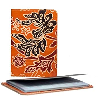 Fair Trade Cruelty Free Leather Passport Cover - Orange