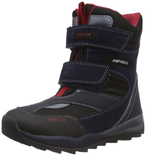 Geox - J Orizont Boy Abx A, Scarpe Da Neve per bambini e ragazzi, Blu (Blau (C0735NAVY/RED)), 30