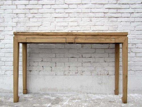 Mesa auxiliar de tabla de China perchero de crédito tabla de madera de olmo