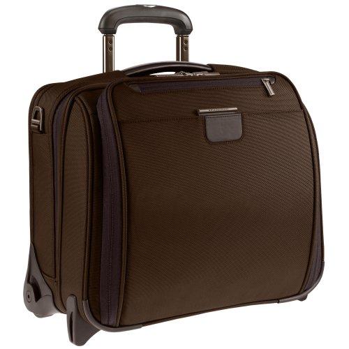 Briggs & Riley  15.4 Inch Slim Rolling Briefcase,Chocolate,12.8x15.8x7