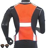 自転車 用( ランニング ) ブルべ ベスト / 夜間 安全 反射ベスト ジョギング ウォーキング にも。 (01 オレンジ)
